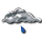 Mostly cloudy or overcast, with light rain