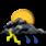 Nubi irregolari con temporali moderati