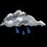 Coperto con pioggia debole intermittente